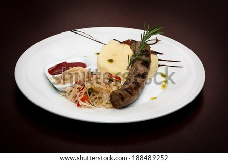 Delicious grilled sausage