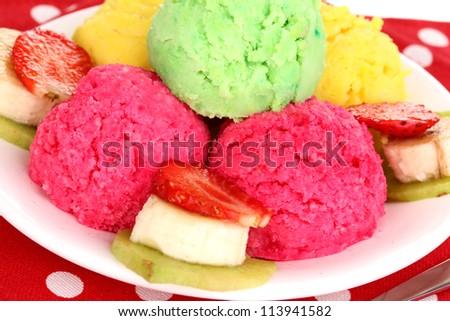 delicious ice cream close-up - stock photo