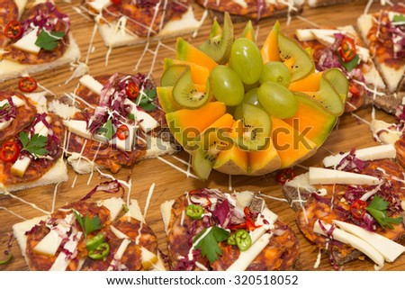 Delicious Indigenous Croatian spicy sausage called Kulen is typical for the eastern part of Croatia - stock photo