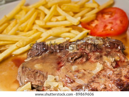 Delicious juicy steak beef meat