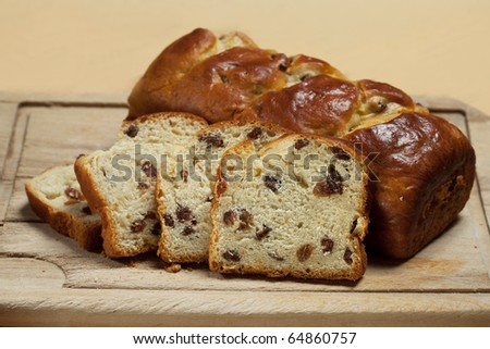 delicious loaf with raisins