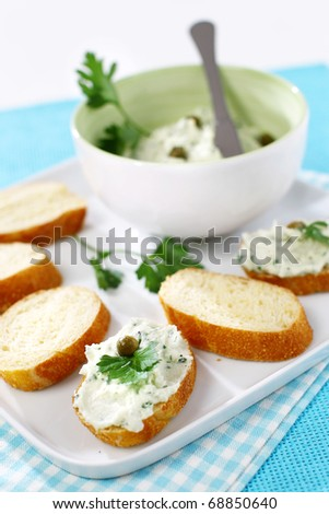 Closeup finger food dessert pudding candied stock photo for Canape spreaders