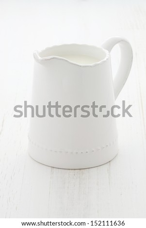 Delicious, nutritious and fresh milk jar. - stock photo
