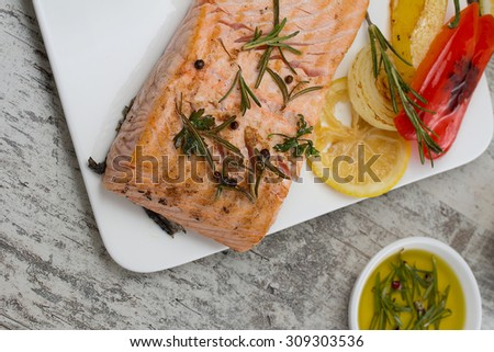 Barbecue rose fish stock photo 298854512 shutterstock for Aromatic herb for fish