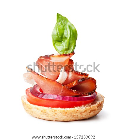 Canape stock photos images pictures shutterstock for Prosciutto canape