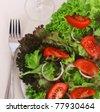 Delicious salad closeup - stock photo