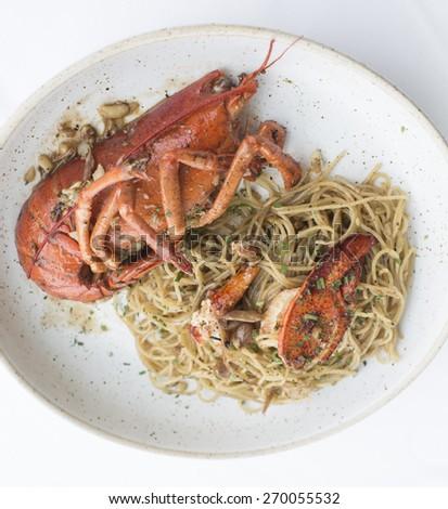 Delicious Seafood Spaghetti - stock photo
