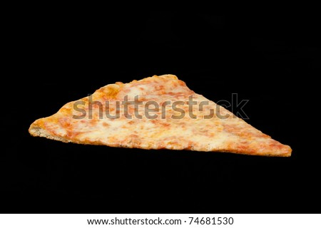 Delicious Slice of Pizza on a Black Background
