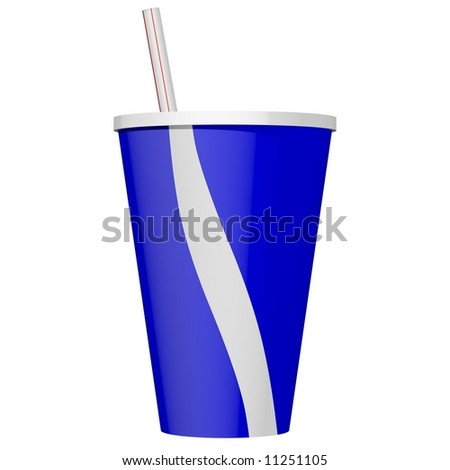 Delicious soda beverage isolated on white - stock photo