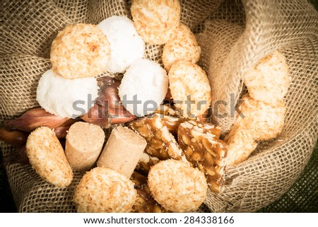 Delicious sweets for the Brazilian Junina Party (Festa Junina) - stock photo