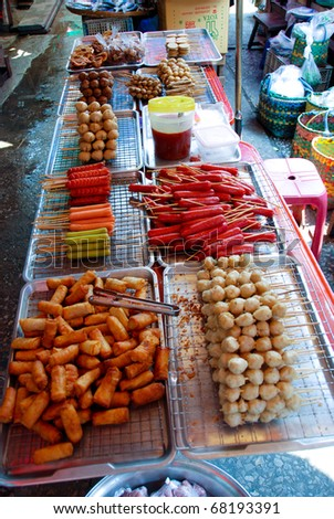 Delicious Thai street food in Asia - stock photo