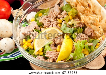 Delicious Tuna Salad - stock photo