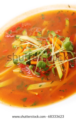Delicious  Vegetable soup - stock photo