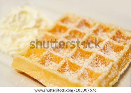 Delicious Waffle - stock photo