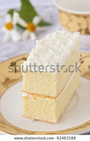 delicious white cake - stock photo