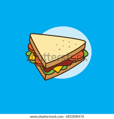 sandwich isometric style vector illustration stock vector