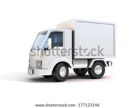 delivery truck - copy space - stock photo