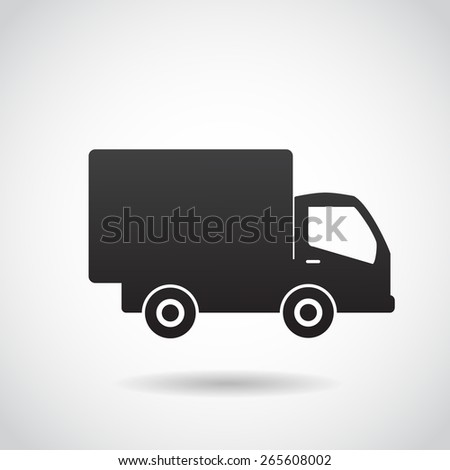 Delivery truck icon. - stock photo
