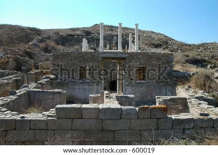Delos, Greek islands - stock photo