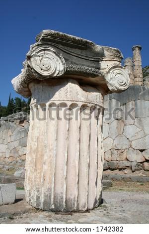 delphi greece peleponnese - stock photo