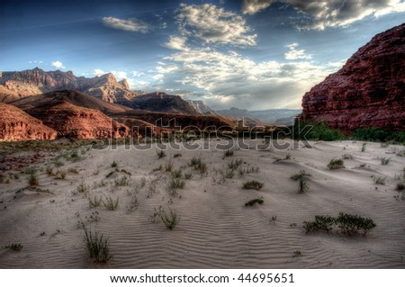 Delta of the Colorado River in the Grand Canyon