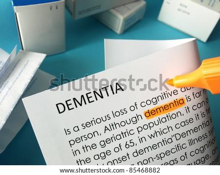 Dementia treatments  - stock photo