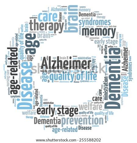 Dementia word cloud - stock photo