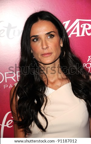 Demi Moore at 3rd Annual Variety's Power Of Women Event Presented By Lifetime, Four Seasons Hotel, Beverly Hills, CA 09-23-11 - stock photo
