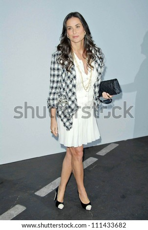 Demi Moore  at the 2007/2008 Chanel Cruise Show Presented by Karl Lagerfeld. Hanger 8, Santa Monica, CA. 05-18-07 - stock photo