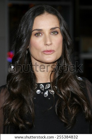 """Demi Moore attends Los Angeles Premiere of """"Mr. Brooks"""" held at the Grauman's Chinese Theater in Hollywood, California, on May 22, 2007. - stock photo"""