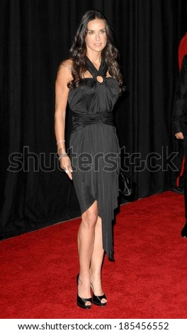 Demi Moore, wearing a Zac Posen dress, at Rodeo Drive Walk of Style Awards Ceremony Honoring Princess Grace, Rodeo Drive, Beverly Hills, CA October 22, 2009 - stock photo