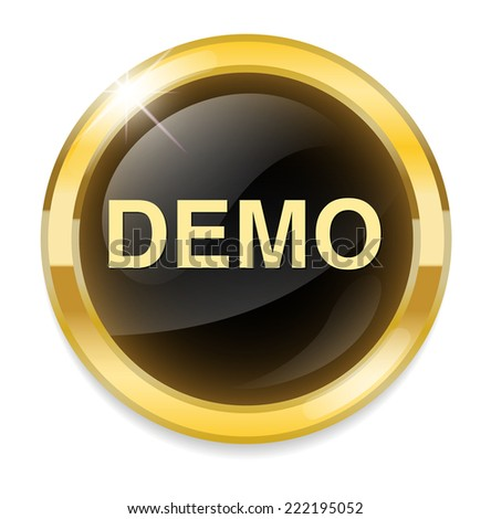 Demo icon - stock photo