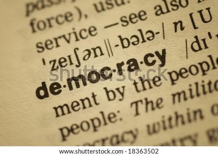 Democracy - stock photo