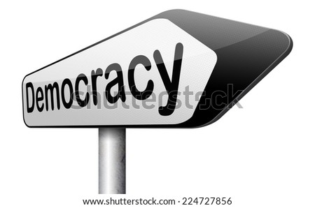 democracy and political freedom power to the people after a new revolution for free elections  - stock photo