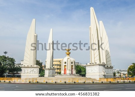 Democracy Monument in Bangkok,Thailand