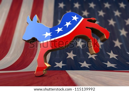 Democrat Party Symbol - stock photo