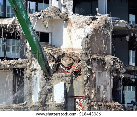 demolish building