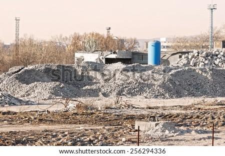 Demolition area - stock photo