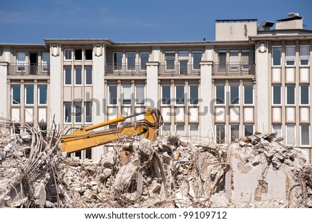 Demolition Building - stock photo