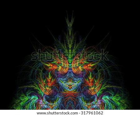 Demon abstract illustration - stock photo