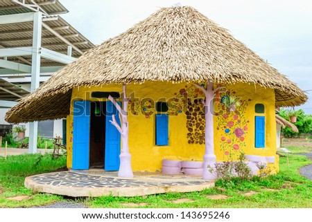 Demonstration soil house in Thailand. - stock photo