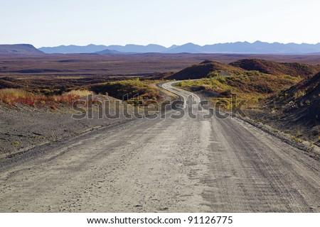 Denali highway Alaska - stock photo