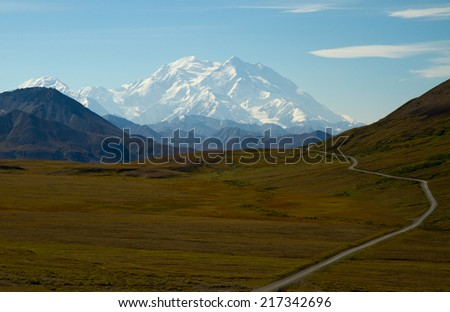 Denali (Mount Mc Kinley) Alaska/USA - stock photo