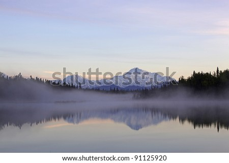 Denali Mountain Alaska - stock photo