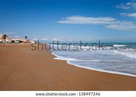 Denia beach (eastern Spain) - one of the cleanest and most beautiful beaches of Costa Blanca