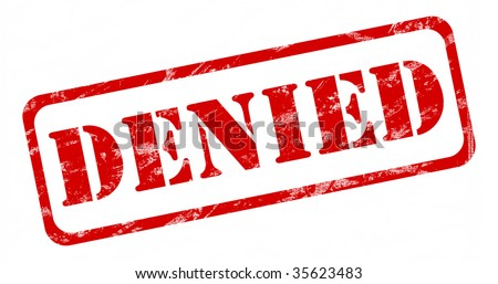 denied stamp - stock photo