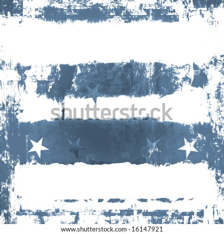 Denim Blue Stars And Stripes Grunge - stock photo