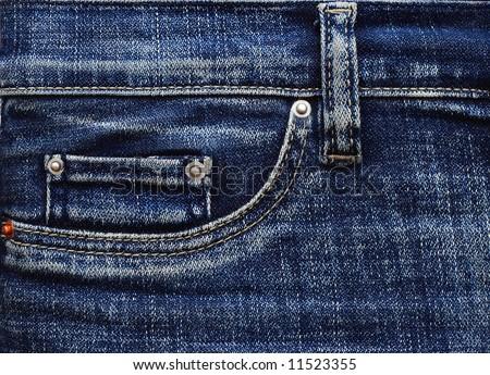 Denim jeans pocket - stock photo