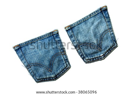 Denim jeans textured textile material backgrounds - stock photo