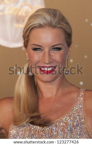 Denise Van Outen arriving for the Strictly Come Dancing 2012 Launch, Television Centre, London. 11/09/2012 Picture by: Simon Burchell - stock photo